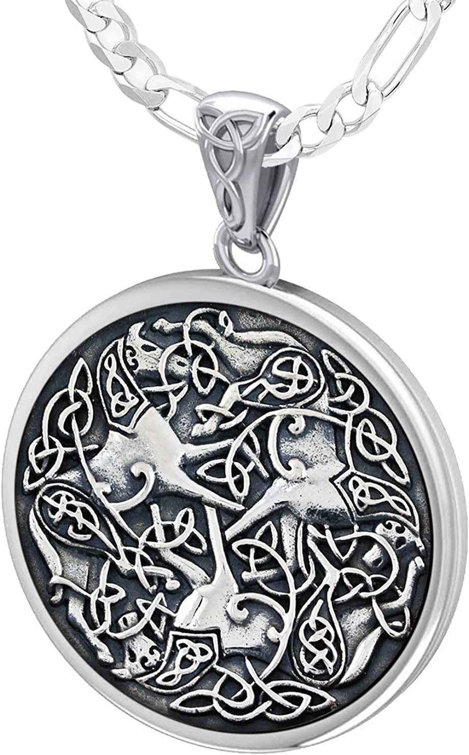 US Jewels Men's 925 High quality new Sterling Silver Excellence Irish Knot Celtic Ho Warrior