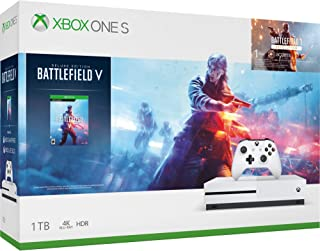 Microsoft Xbox One S 1TB Hard Drive Console (4K Ultra HD Blu-ray) with Wireless Controller and Game Bundle   Choose Battlefield V Bundle