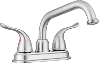 Pacific Bay Treviso Threaded Spout Laundry Tub/Utility Sink Faucet (Brushed Satin Nickel)