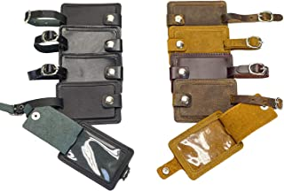 Lot of 10 Leather Luggage Tags Pack (Assorted)