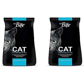 Petcrux Lets Bite Exclusive Scoopable Smart Bentonite Cat Litter, Lavender Flavor, 6 Kg (Let's Bite 6 Kg - Pack of 2 [Total 12 Kg])
