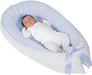 Nido colecho para bebé (doble vista) - cuna portátil (Azul)