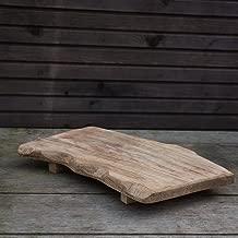 Antikas - tabla de cortar de madera estilo rústico - tabla de cocina para cortar verduras queso carne