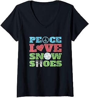 تی شرت گردن V و کفش برفی خنده دار هدیه صلح عاشقانه کفش برفی