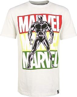 Marvel Black Panther Pop Art - Camiseta de manga corta, color crudo