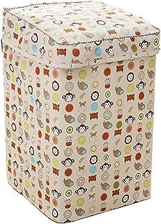 IKENOKOI 洗濯機カバー 防水 防塵 日焼け止め 紫外線に強い 老化防止 外置き 上開き ベルクロ開閉式 (動物 S 52*53*88cm)