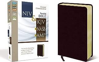 NIV, KJV, NASB, Amplified, Classic Comparative Parallel Bible, Bonded Leather, Burgundy: NIV and KJV and NASB and Amplified