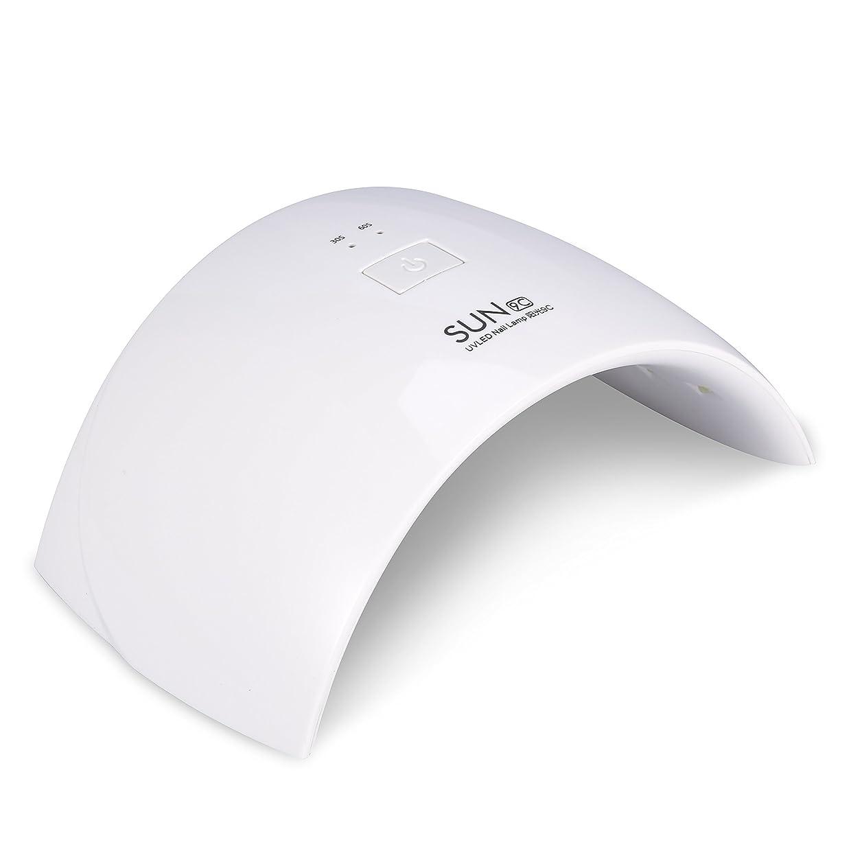 理解急ぐ期待して紫外線LEDネイルランプ 15LED 24W 硬化ネイルアートツール硬化マニキュア(ホワイト)