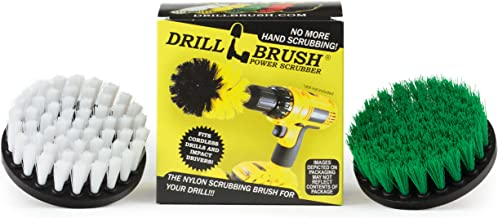 Cleaning Supplies - Kitchen Accessories - Drill Brush - Grout Cleaner - Indoor/Outdoor Spin Brush Cleaning Kit - Stove, Ov...