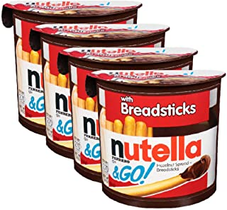 Nutella & Go with Breadsticks, 4 Pack, 4 x 52 g