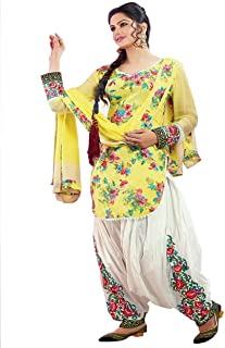 yellow color patiala suit