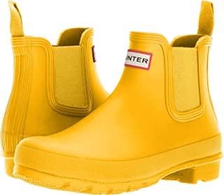 hunter chelsea boots yellow