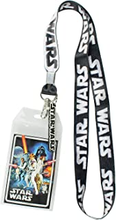 Star Wars ID Lanyard with Clear Badge Holder and Rubber Logo