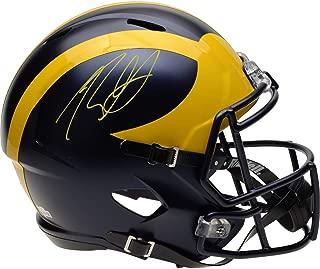 Rashan Gary Michigan Wolverines Autographed Riddell Speed Replica Helmet - Fanatics Authentic Certified