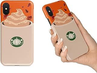 BrilliantCustoms New Cute Pumpkin Spice Latte Fall Autumn Black iPhone Tough Case   iPhone 6 6s 6+ 7 7+ 8 8+ X XS XR Max (iPhone X/XS)