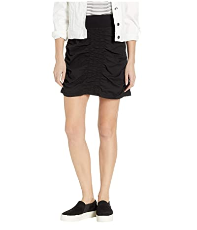 XCVI Wearables Solid Trace Skirt (Black) Women
