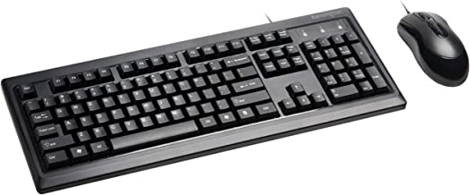 Kensington Mouse-in-a-Box and Keyboard Wired USB Desktop Set (K72436AM), Black