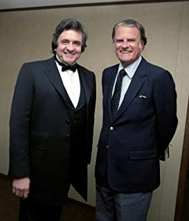 Historical Photo Collection 8 x 10 Photo Johnny Cash Billy Graham On High Qquality Fiji Film Paper
