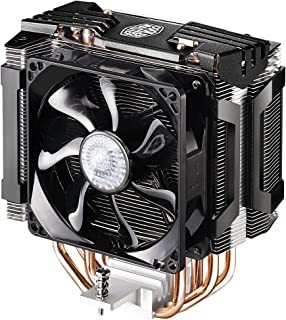 Cooler Master Hyper D92 CPU Cooler with Dual 92mm Offset Push-Pull Fans and Accelerated Cooling System - Silver Fins Black...