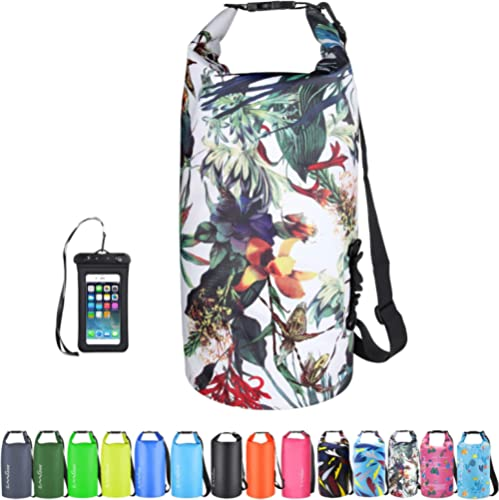 OMGear Waterproof Dry Bag Backpack Waterproof Phone Pouch 40L/30L/20L/10L/5L Floating Dry Sack for Kayaking Boating S...