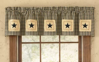 Park Designs Star Patch Lined Valance, 60 x 14