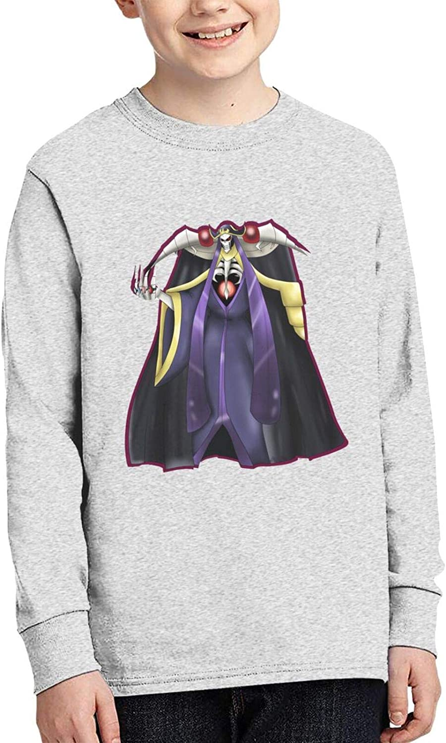 Teens Boy's Cotton 3D Print Funny Round Neck Long Sleeve T Shirts Anime Graphic Tees Shirt Top