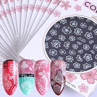 3D White Nail Art Stickers Decals Lace Flowers Heart Dream Designs Consejos Autoadhesivos Uñas Herramientas De Decoración De Arte