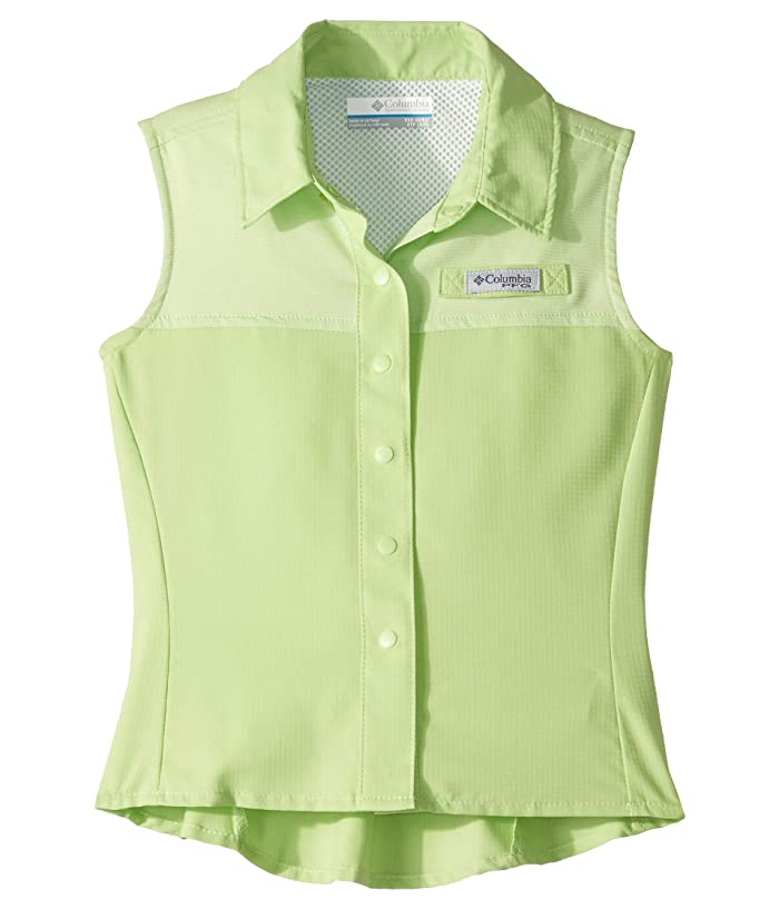 Columbia Kids Tamiamitm Sleeveless Shirt (Little Kids/Big Kids) (Jade Lime) Girl