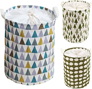 Mggsndi Foldable Laundry or Clothes Hamper with Long Handles, Dirty Clothes Laundry Basket&Bucket, Linen Bin Storage Orga
