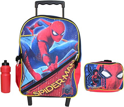 New Spiderman Rolling Backpack Lunch Case.