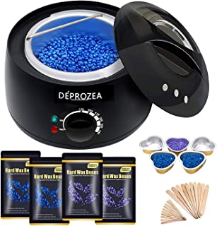 Sponsored Ad - Waxing Kit for Women Men, DEPROZEA Painless Hair Removal Wax Warmer Wax Kit with 4 Bags Hard Wax Beans (14o...