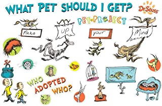 Eureka Dr. Seuss 'What Pet Should I Get?' Bulletin Board Set and Classroom Decorations for Teachers, 38 pcs