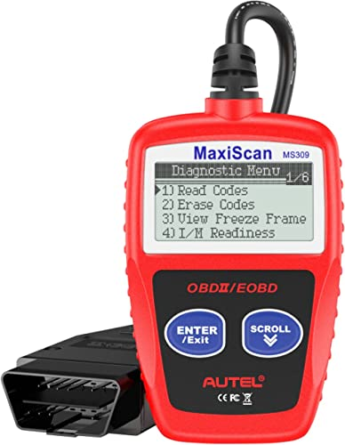 Autel MS309 OBD2 Scanner Check Engine Fault Code Reader, Read Codes Clear Codes, View Freeze Frame Data, I/M Readines...