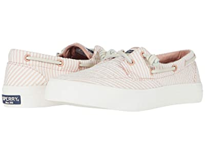 Sperry Crest Boat Seersucker (Coral/White) Women