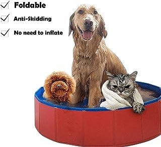 Lumcrissy Foldable Portable Dog Pet Bath Pool,Swimming Pool Bathing Tub, Folding PVC Pool Bathtub Small Washer Kiddie Pools