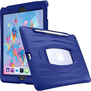UZBL iPad 10.2 Case, AirWave Series Silicone Ultra Slim Lightweight Case with Pencil Holder for iPad 10.2 (7th Gen) Blue A...