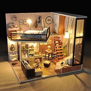 Lizefang Kit de casa de muñecas de bricolaje,miniatura