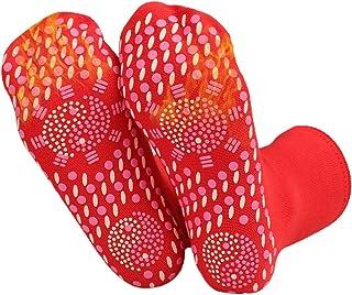 Meias de autoaquecimento para homens e mulheres, meias magnéticas anticongelantes para massagem nos pés