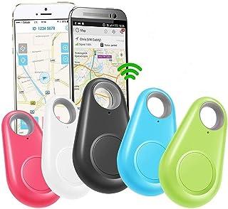 $38 » 5 Pack GPS Tracker Smart Key Finder Locator Phone Alarm Sensor Anti Lost Selfie Shutter Wireless Seeker for Kids Boys Girl...