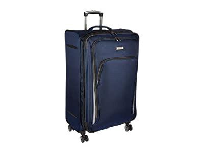 Kenneth Cole Reaction 28 Cloud City Lightweight Softside Expandable 8-Wheel Spinner Checked Luggage (Navy) Luggage