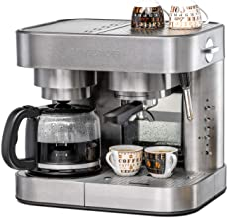 Koffie/Espresso Center EKS 3010 ElPresso Duo deluxe – roestvrij staal, koffiezetapparaat, zeefdrager, mondstuk voor melksc...