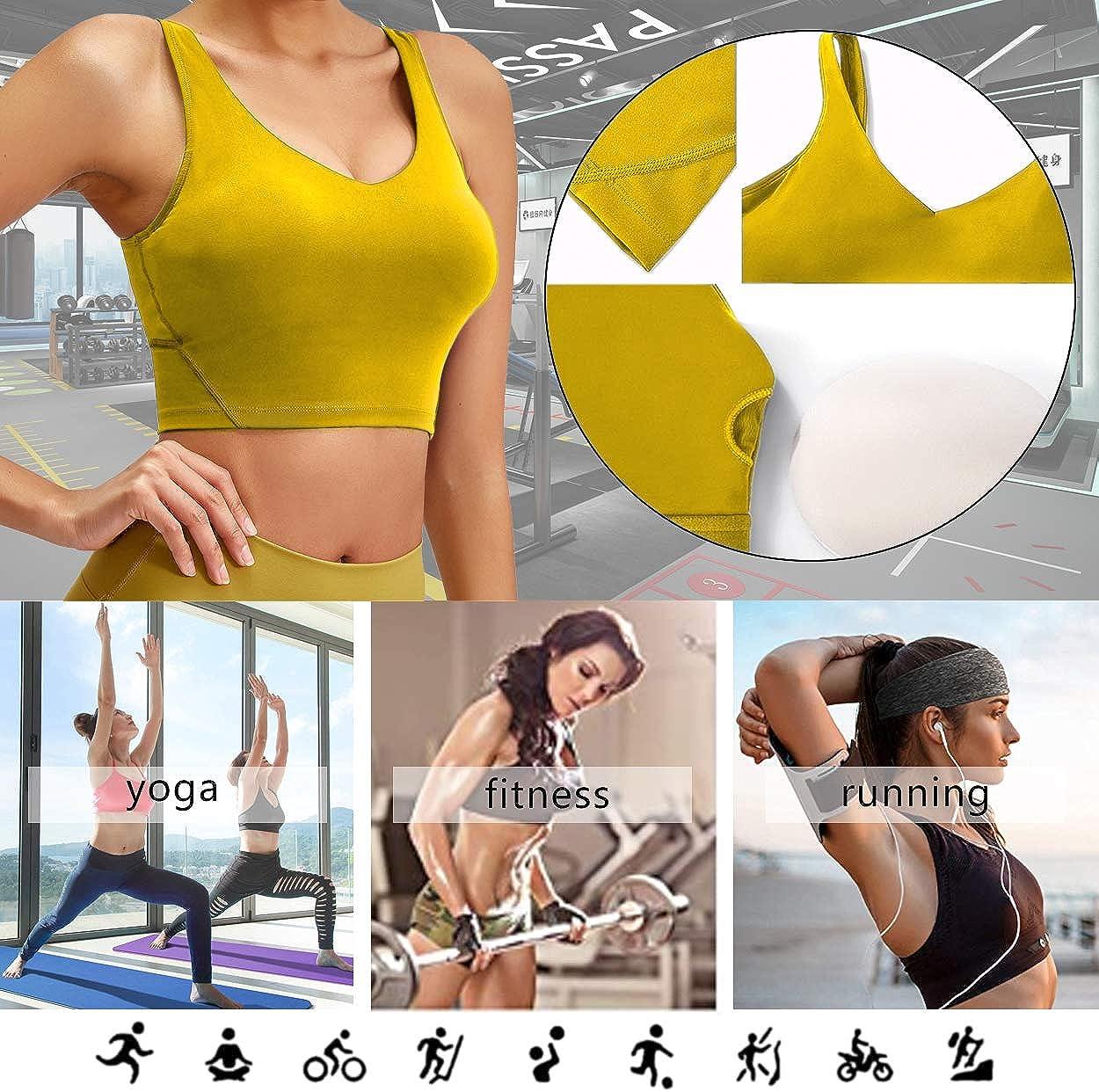 Becfort Womens Sports Underwear Bra Yoga wear Fitness wear Sleeveless Running Vest