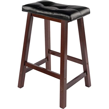Crosley Furniture Upholstered Square Seat Bar Stool Set Of 2 24 Inch Vintage Mahogany Furniture Decor