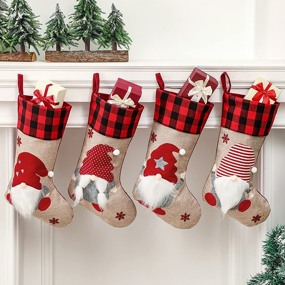 Christmas Gnomes Stockings 4 Houston Mall Swedish Santa Tomte Popular standard Type