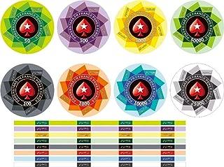 ZAMTAC 450 pcs EPT European Poker Chips Set with Value Ceramic Chips Pokerstar Poker Set Tour Handfeel Professional Casino Chips