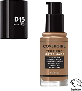 Covergirl Trublend Matte Made Liquid Foundation, D15 Warm Tawny, 1 Fl Oz