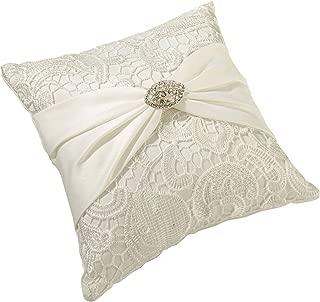Lillian Rose Cream Vintage Lace Wedding Ring Pillow