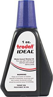 Trodat 45217 Ideal Premium Replacement Ink for Use with Most Self Inking and Rubber Stamp Pads, 1oz, Violet