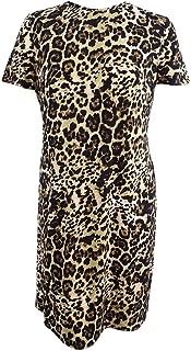 Women's Plus Size Leopard-Print Shift Dress