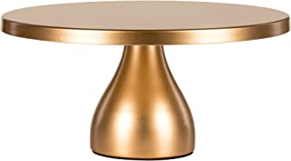 Amalfi Decor 12 Inch Cake Stand, Dessert Cupcake Pastry Candy Display Plate for Wedding Event Birthday Party, Round Modern Metal Pedestal Holder, Gold